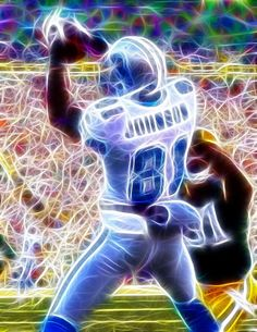 megatron calvin johnson art | ... Calvin Johnson Painting - Magical Calvin Johnson Fine Art Print