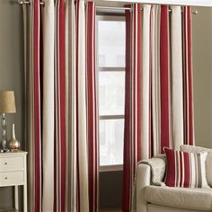 Broadway Pair of 229x229cm Eyelet Curtains, Raspberry
