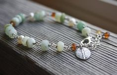 Last One- Peruvian Opal Gemstone Bracelet, Peruvian Opal Bracelet, Silver Bracelet, Peruvian Opal Jewelry