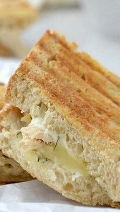 Creamy White Chicken Grilled Cheese