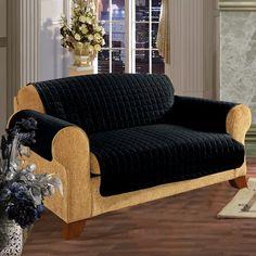 Red Barrel Studio Box Cushion Sofa Slipcover Upholstery: Black