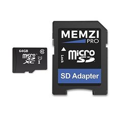 MEMZI PRO 64GB Class 10 90MB/s Micro SDXC Memory Card with SD Adapter for GoPro Action Cameras