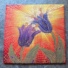 Polymer clay mosaic made for 10x10 covering the world in clay for FIMO 50