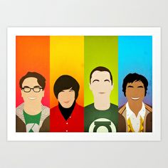 The Big Bang Theory Art Print by Bantam - $17.00
