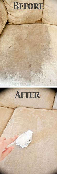 55 Must-Read Cleaning Tips & Tricks The Microfiber couch cleaner is amazing!
