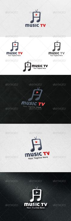 Music TV Logo Template — Vector EPS #play #music logo • Available here → https://graphicriver.net/item/music-tv-logo-template/6662242?ref=pxcr