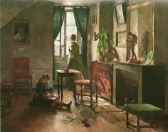 Norwegian painter Harriet Backer achieved recognition in her own time. Harriet Backer is best known for her detailed interior scenes with ri. Mexican Artists, Spanish Artists, Dutch Artists, Canadian Artists, Australian Artists, Art Deco Artists, Artist Art, Lund, Female Painters
