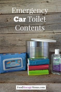 How to Make an Emergency Car Toilet - Put it in your car for just-in-case during road trips. You never know when there will be a long stretch of road with no rest stops OR an emergency situation where you are stuck and someone needs to go to the restroom. Emergency Preparedness Kit, Emergency Preparation, Emergency Supplies, Survival Prepping, Survival Skills, Survival Gear, Survival Supplies, Wilderness Survival, Emergency Planning