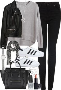 855337502c26 Outfit with a tote bag by ferned featuring mid-finger rings Chicnova  Fashion round neck sweater