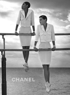 lelaid:  Joan Smalls & Saskia de Brauw by Karl Lagerfeld for...