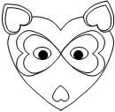 Printable Cut and Paste Raccoon with Hearts for Valentines Day from Making Learning Fun