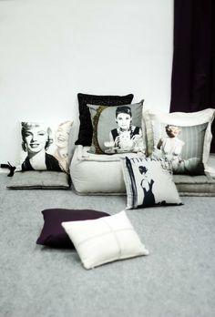 Audre Hepburn & Marilyn Monroe Pillows