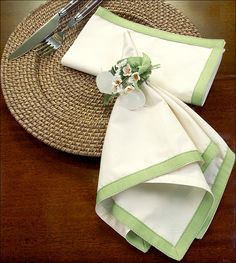 Ribbon Edged Napkins