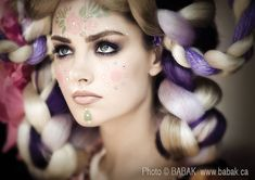 #smokey #grey #eye #makeup with #rhinestones