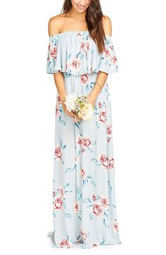 cf8d412ce38 Show Me Your Mumu Show Me Your Mumu Hacienda Convertible Off the Shoulder  A-Line Gown available at  Nordstrom