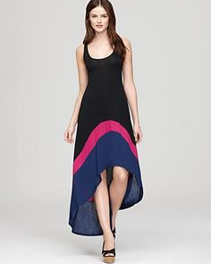 Akiko Dress - Color Block High Low (hm)