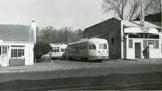 DC Transit PCCs at Calvert Street Bridge terminal (routes 90/92) (Old Tme DC).