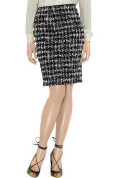 obsessed with this lanvin bouclé skirt