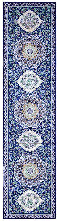 Uzbek Ceramic Tile Panel