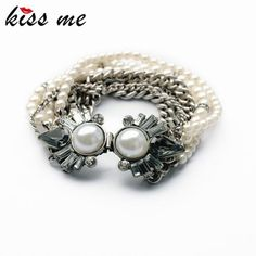 New Styles Statement Fashion Women Jewelry Elegant Imitation Pearls Charming Bangles & Bracelets Check it out!Visit us: www.servjewelry.c... #shop #beauty #Woman's fashion #Products #homemade