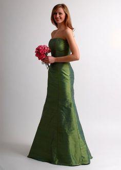 Rita    Silk, Strapless column dress with flared trumpet skirt (maternity option)