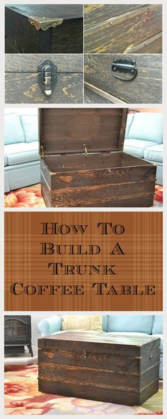 This is luxurious! You can build it yourself. Check this easy DIY Trunk Coffee Table. #handymate