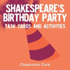 Shakespeare's Birthday Party: Task Cards & Activities to Introduce Shakespeare Ap Literature, British Literature, Shakespeare Birthday, Senior Activities, Halloween Activities, Winter Activities, Physical Activities, St Patrick Day Activities, High School English