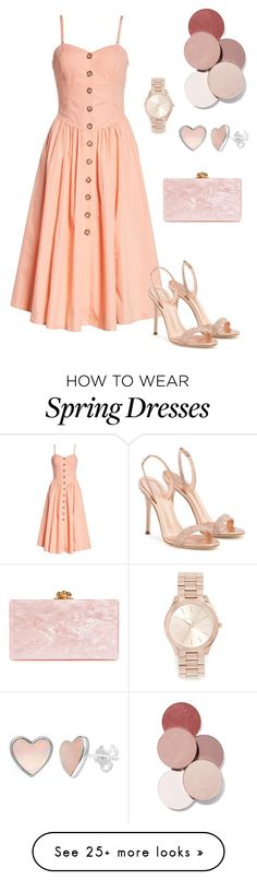 """""""Set"""" by giulia-ostara-re on Polyvore featuring Free People, Giuseppe Zanotti, Edie Parker, Michael Kors and LunatiCK Cosmetic Labs"""