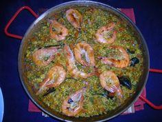 Paella de marisc/ Paella de marisco/ Seafood paella