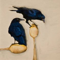 """Saatchi Art Artist Brian Barrer; Photography, """"The crows in the kitchen"""" #art"""
