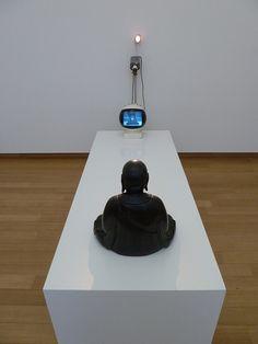 """TV-Buddha"", 1974 - Nam June Paik. Korean-American, mixed media installation. #namjunepaik #art"