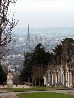 cathedrale de rouen vue du cimetière monumental - 2013
