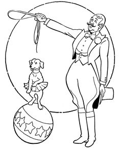 Circus Animals Coloring Page