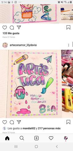 Android Wallpaper Anime, School Notebooks, Bullet Journal School, Brush Pen, Bff, Mandala, Banner, Draw, Lettering