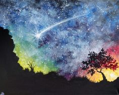 Starry Desert Night at Tavern in the Square - Porter Square - Paint Nite Events near Cambridge, MA>
