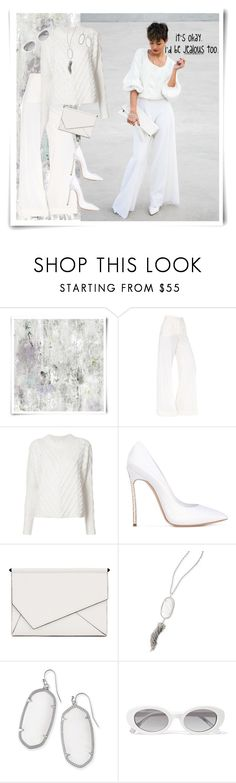 """""""Ice Princess"""" by dobesht ❤ liked on Polyvore featuring Designers Guild, Dolce&Gabbana, A.L.C., Casadei, Kendall + Kylie, Kendra Scott and Elizabeth and James"""