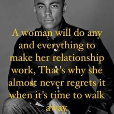 A woman will do any and everything to make her relationship work. That's why she almost never regrets it when it's time to walk away. Great Quotes, Quotes To Live By, Awesome Quotes, It's Over Now, Motivational Quotes, Inspirational Quotes, No Rain, Broken Relationships, Co Parenting