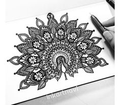 Another piece that has seen a lot of recreations. Love what you guys send me and thank you for tagging me in ur lovely creations Doodle Art Drawing, Cool Art Drawings, Mandalas Drawing, Zentangle Drawings, Pencil Art Drawings, Art Drawings Sketches, Zentangles, Easy Mandala Drawing, Mandala Sketch