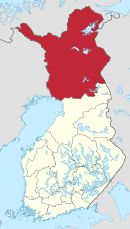 Lapland is the largest and northenmost region of Finland bordering Finnmark of Norway, Norbotten of Sweden, and Murmansk and Karelia of Russia