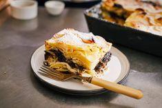 Pozsonyi kocka Lasagna, Nutella, Muffin, Favorite Recipes, Ethnic Recipes, Food, Poppy, Street, Kitchen
