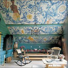 Hand-painted barn in Norway via Eleish Van Breems