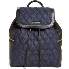 Vera Bradley Amy Backpack in Indigo Denim ($129) ❤ liked on Polyvore featuring bags, backpacks, accessories, purses, indigo denim, vera bradley bags, denim backpacks, day pack backpack, draw string bag and handle bag