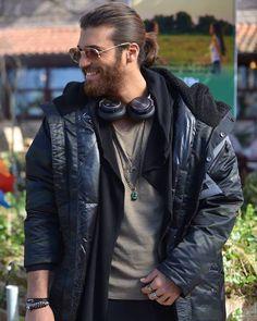 Turkish Men, Turkish Actors, Canned Yams, Beard Styles For Men, Gorgeous Men, Beautiful, Pretty Boys, Actors & Actresses, Leather Jacket