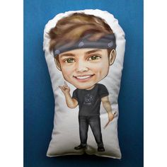 Ashton Irwin Chibi Pillow (27 CAD) ❤ liked on Polyvore featuring home, home decor and throw pillows