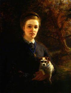 Joseph Farquharson, Mrs Farquharson of Finzean, 1871; Aberdeen Art Gallery and Museums