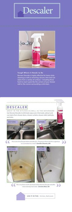 Norwex Descaler cuts scrubbing time in half!