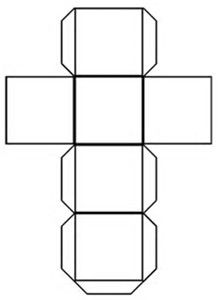 Image result for Printable Cube Template