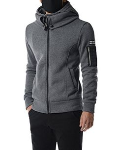 TheLees (KCJ02) Fashion Layered Design Zip-Up Fleece Marled Knit Hoodie Jacket DARKGRAY Chest 40TheLees (Tag size L) TheLees http://www.amazon.com/dp/B018S3ZOG0/ref=cm_sw_r_pi_dp_rQ9zwb0PCEVMT