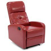 Best Choice Products Home Theater Leather Recliner Chair (Red) Image 1 of 6 #reclinerchair