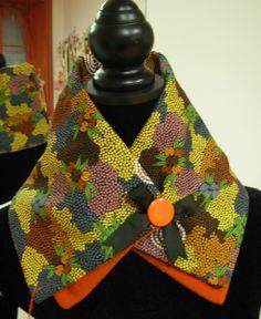 Col coton doublé polaire orange de L'Atelier Rikittyn'  sur DaWanda.com
